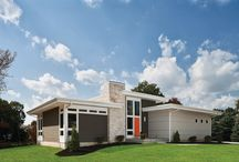 mid century modern homes / k+k abode