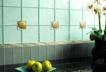 Inspired Home Decor using tiles / Inspiration for bathrooms and kitchen tile installations using glass tiles and metal tiles