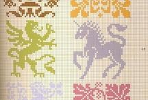 Cross stitch, crochet, hama/perler