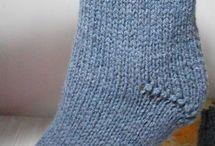 meias de tricô