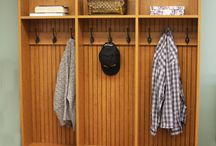 Mudroom Ideas / storage ideas for that back door entryway -- you know, the door your family actually USES, where they dump all their stuff. :)