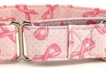 Pink Ribbon Pet Wear / Support Breast Cancer Awareness with our large assortment of Pink Ribbon collars, leashes and pet apparel.