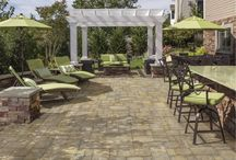 Pavilions and Pergolas / Complete your pavingstone patio with a pergola or pavilion kit by Cambridge Pavingstones with Armortec. These kits are a perfect complement to Cambridge's outdoor kitchens and provide a relaxing shaded seating area. / by Cambridge Pavingstones with ArmorTec