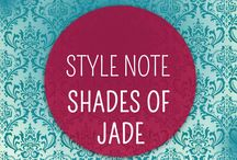 Style Note: Shades of Jade  / Inspired by our latest Easy Peezy bra release in of the moment Jade, we have pulled together some of our fav spots of Jade Inspiration, projects, crafts, DIY & things to buy!