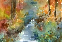 Tribute to Fall / The gorgeous fall of 2014 inspired a lot of paintings.