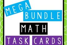 Math for 5th Grade / Entire year's worth of math task cards for 5th grade plus lots of awesome ideas you can use in your math classroom! / by The Teacher Next Door