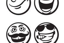 Coloriages smiley / Les smiley dans tous leurs états, coloriez ces différentes émoticônes dans ce tableau