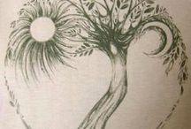 Bomen tekeningen...