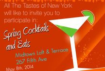 "Spring Cocktails & Eats / Join us on May 8th 2014 at Midtown Loft & Terrace - 267 Fifth Ave, for our Spring Event, ""Cocktails & Eats""!!"