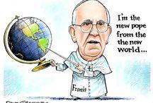 El Papa argentino / Viñetas humorísticas y caricaturas de todo el mundo sobre el papa Francisco / by Diego Rottman