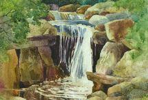 WATERFALL PAINTINGS / waterfalls
