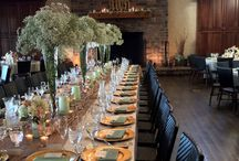 Feast Tables / Don't sit facing one direction at your wedding feast!  Enjoy each other by sitting on all sides of your giant Feast Table!  Think of kings and queens and fatted pigs :-)