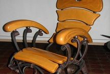 кресла дерево+металл