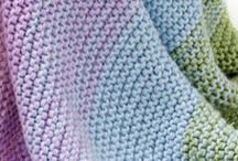Ombre knit blanket