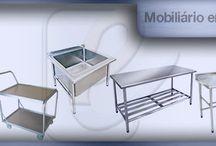 Cozinha Industrial módulos em aço inox para produção de alimentos