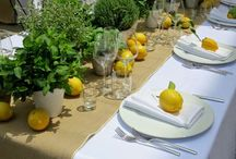 yellow wedding : lemon flowers and greenery