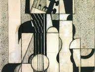 Juan Gris / Nombre real José Victoriano González-Pérez (23.3.1887 – 11.5.1927), pintor español que desarrolló su actividad principalmente en París como uno de los maestros del cubismo.