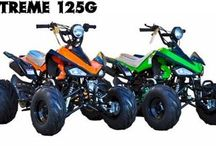 """X-Treme 125X Sport ATV, 3-Speed Semi Auto w/Reverse / Youth Mid Size Utility ATV 125cc, 3-Speed Semi Automatic with Reverse, Hand & Foot Brake, 8"""" Wheels, Electric Start, Remote Start/Kill, FREE Battery Charger, Spot Light. MUST BE OVER AGE 12"""