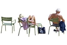 cutout - people sitting