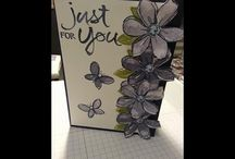 flower cascade card