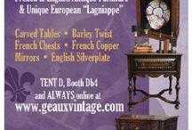 Marburger Farm Antique Show, Texas Antiques Week, Round Top, Texas / Geaux Vintage Antique's booth at Marburger Farm Antique Show!