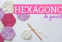 hexagono ganchillo
