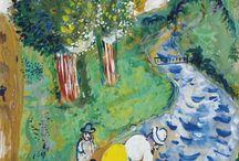 Le Ruisseau, 1926, Marc Chagall. (1887 - 1985)
