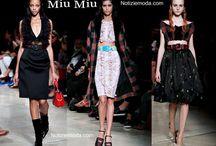 Miu Miu / Miu Miu collezione e catalogo primavera estate e autunno inverno abiti abbigliamento accessori scarpe borse sfilata donna.