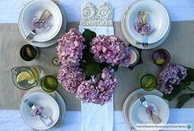 tables / come preparare una tavola per il pranzo, cena , thè ,etc.....
