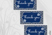 Thank you cards for shower, party, gift, order, etc  by Art-Korobka / Printable Thank you cards for shower, party, gift, order, etc  by Art-Korobka. Instant Download.  #Thankyou #shower #party #idea #printable #instantdownload #favor #tegs #sign