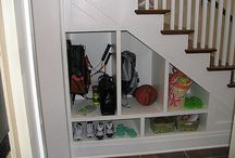 under stairs closet storage design