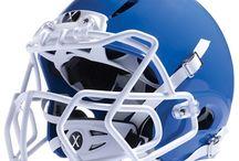 Footballer / All about Football. Players equipment, Football Helmets, team uniforms.