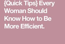 How to be more efficient