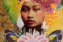 Andréa Matus de Meng / Collages , peintures
