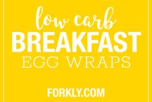 High fat, low carb breakfast