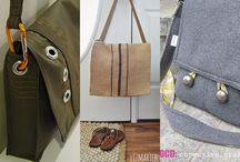 Sewing - Handmade: Bags & Carriers / Sew or DIY totes, handbags, clutches, tech cases and other handy holders.  / by Jill Straw