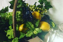 レモン&グリーン / 初夏をイメージして。 フレッシュなレモンにミント等のグリーンをあしらえました。