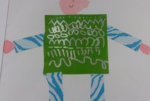 handprint and shapes person