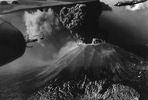 Vesuvius in 1944 (www.bbfauno.com) / #vesuvius #volcano #ruins #mountvesuvius #pompeii #vesuvio #mountain #pompei #excursions #travel #italy #faunopompei #1940 / by B&B Pompei Il Fauno