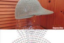 Crochet bonnets chapeaux