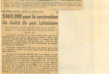 Chalet du parc La Fontaine / Coupures de presse demandant la reconstruction d'un nouveau chalet au parc La Fontaine