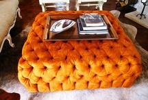 Absolutely GORG Orange comfy ottoman / by Marquisha Washington