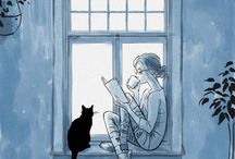 kedi kız kahvr