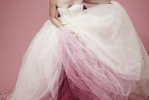 Ombre wedding dresses and cakes..