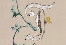 BRODERIE - typogra-fil / lettres ornées, lettrines