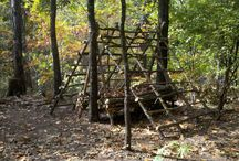 Shelters / Photos of different types of survival shelters
