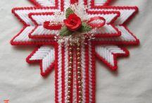 croix plastique canevas