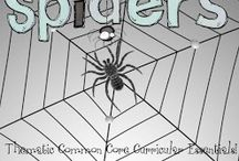 Spider Theme and Activities / Spider thematic fun for kindergarten math, reading, social studies, art, music, writing, and science.
