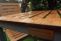 Endurance No Maintenance Outdoor Furniture / Endurance No Maintenance outdoor furniture puts an end to to the costly and time consuming maintenance of pub furniture. It looks just like wood but has none of the issues associated with wood outdoors. It is resistant to all weathers, stains and cigarettes.