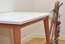 Table Rachel / Nouvelle coupe en blanc